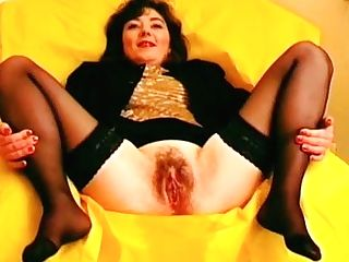 Antique Hairy Cougar Pissing